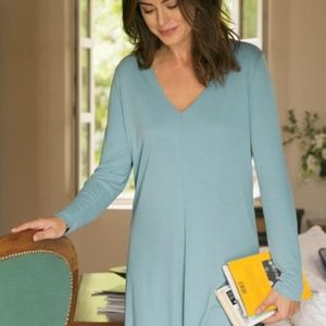 SOFT SURROUNDINGS Large Blue Green Long Sleeve Top